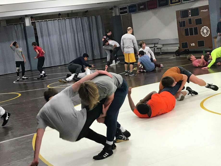 The Brunswick School wrestling team prepares for their Invitational Tournament, which takes place on Saturday, January 18, 2020, at Brunswick. Photo: David Fierro /Hearst Connecticut Media