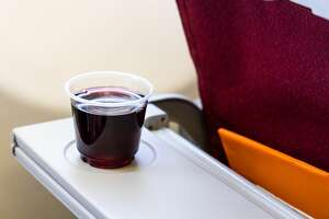 Master Sommelier David Glancy advises fliers to choose Merlot over Cabernet Sauvignon on a flight.