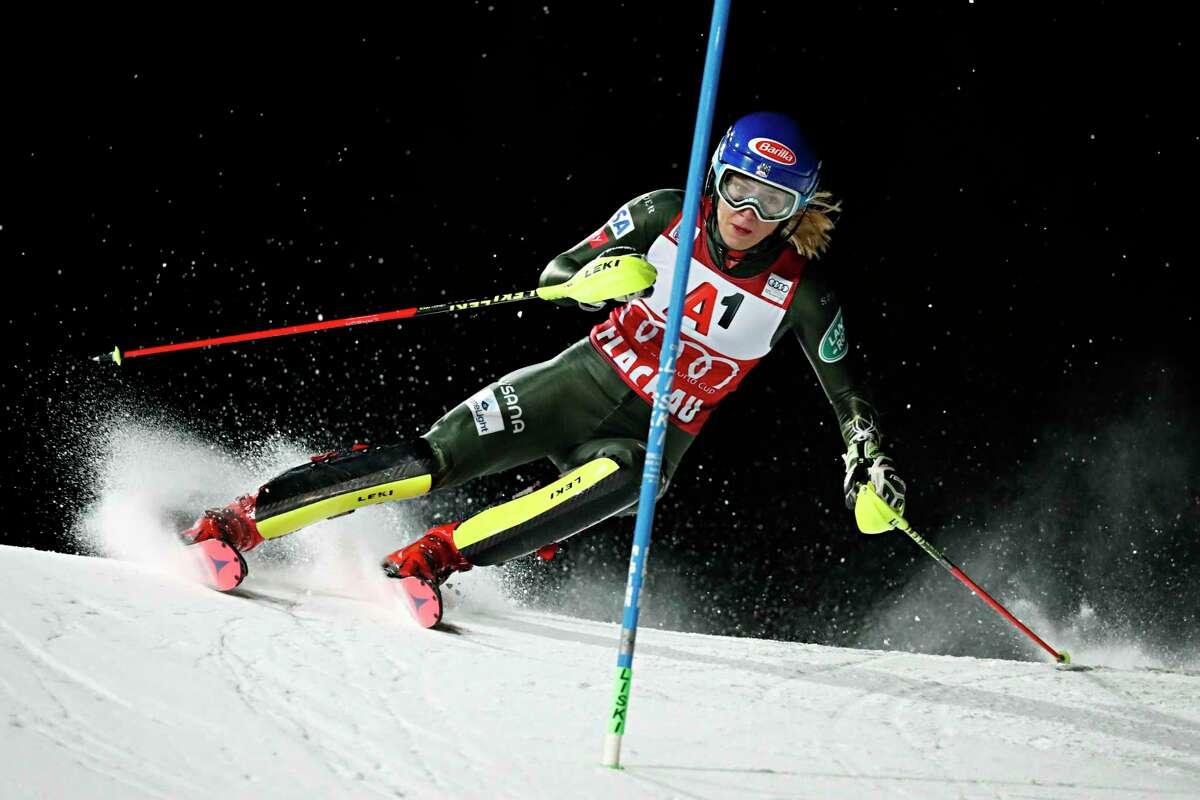 FLACHAU, AUSTRIA - JANUARY 14 : Mikaela Shiffrin of USA in action during the Audi FIS Alpine Ski World Cup Women's Slalom on January 14, 2020 in Flachau Austria. (Photo by Hans Bezard/Agence Zoom/Getty Images)