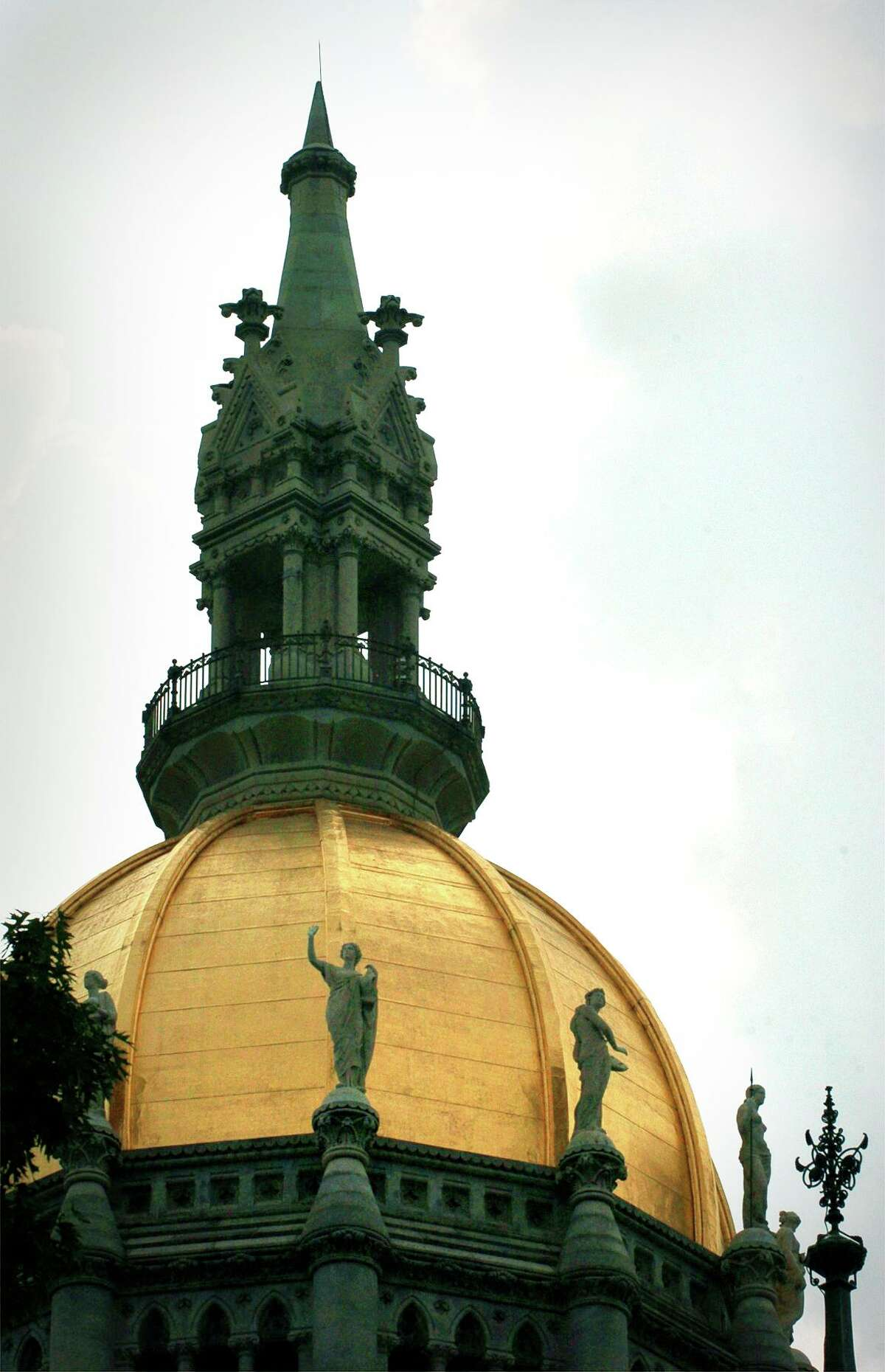 Connecticut State Capitol dome in Hartford.