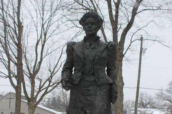 The Anna Howard Shaw Memorial Park features a statue of Shaw, a leader of the women's suffrage movement and former area resident.