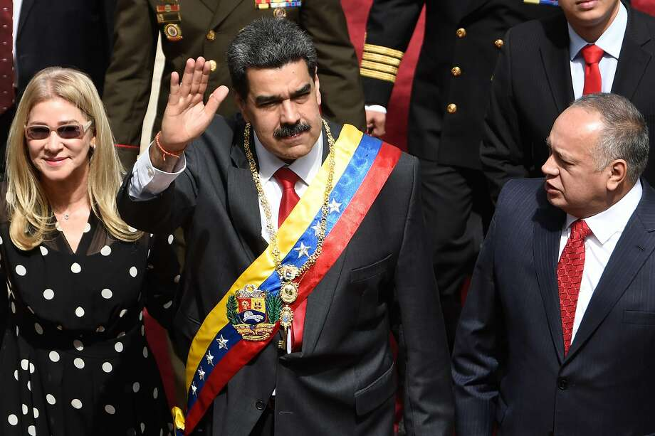 Venezuelan President Nicolás Maduro arrives Tuesday to give his annual address to the nation. Photo: Carolina Cabral / Getty Images
