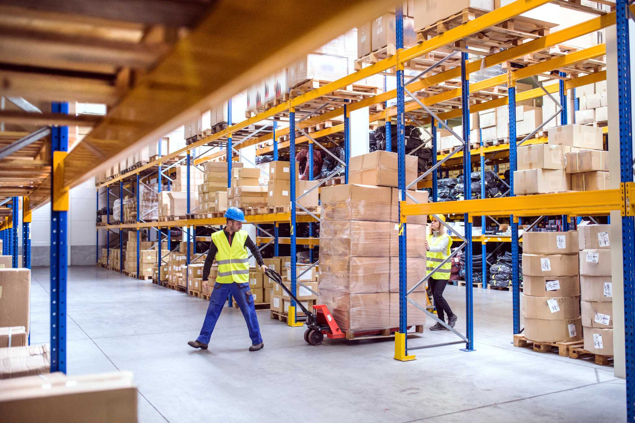 Warehouse workers keep products moving