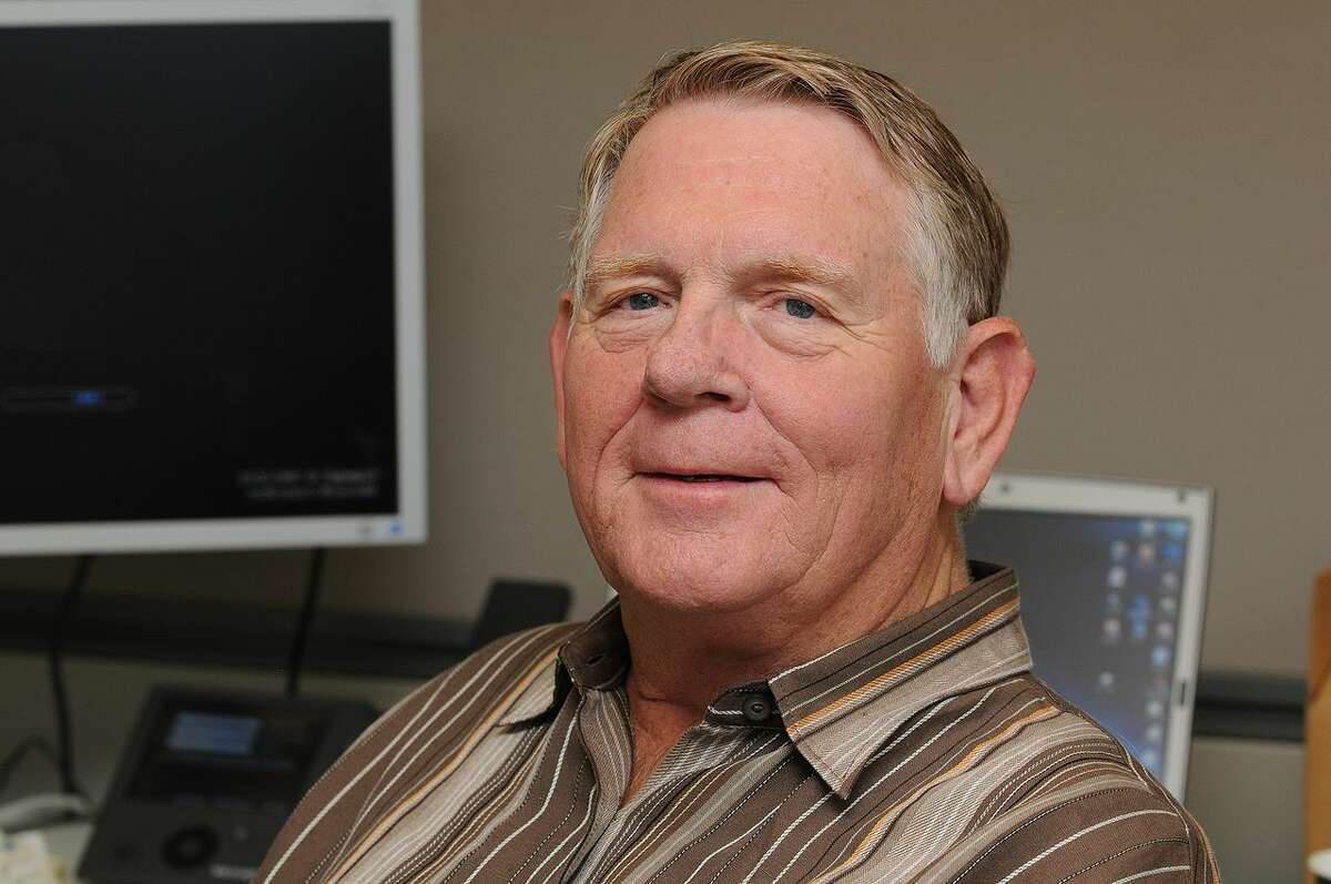 Gary Starkweather, American engineer and inventor of the laser printer, in his office at Microsoft Research in 2009.