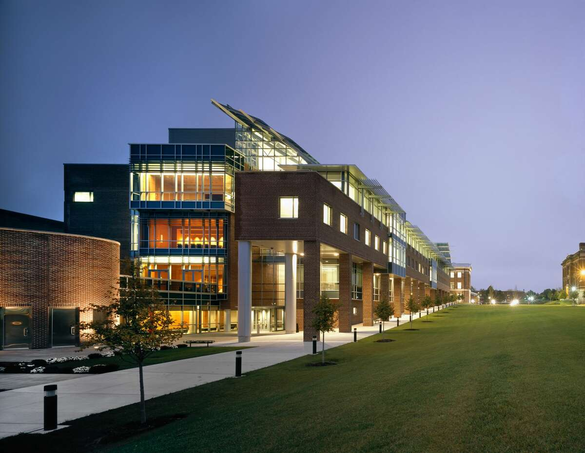 Pictured: The Center for Biotechnology and Interdisciplinary Studies at Rensselaer Polytechnic Institute in Troy, N.Y. CBIS is a research center that brings faculty and students together from across disciplines to tackle challenges related to human health and the environment.