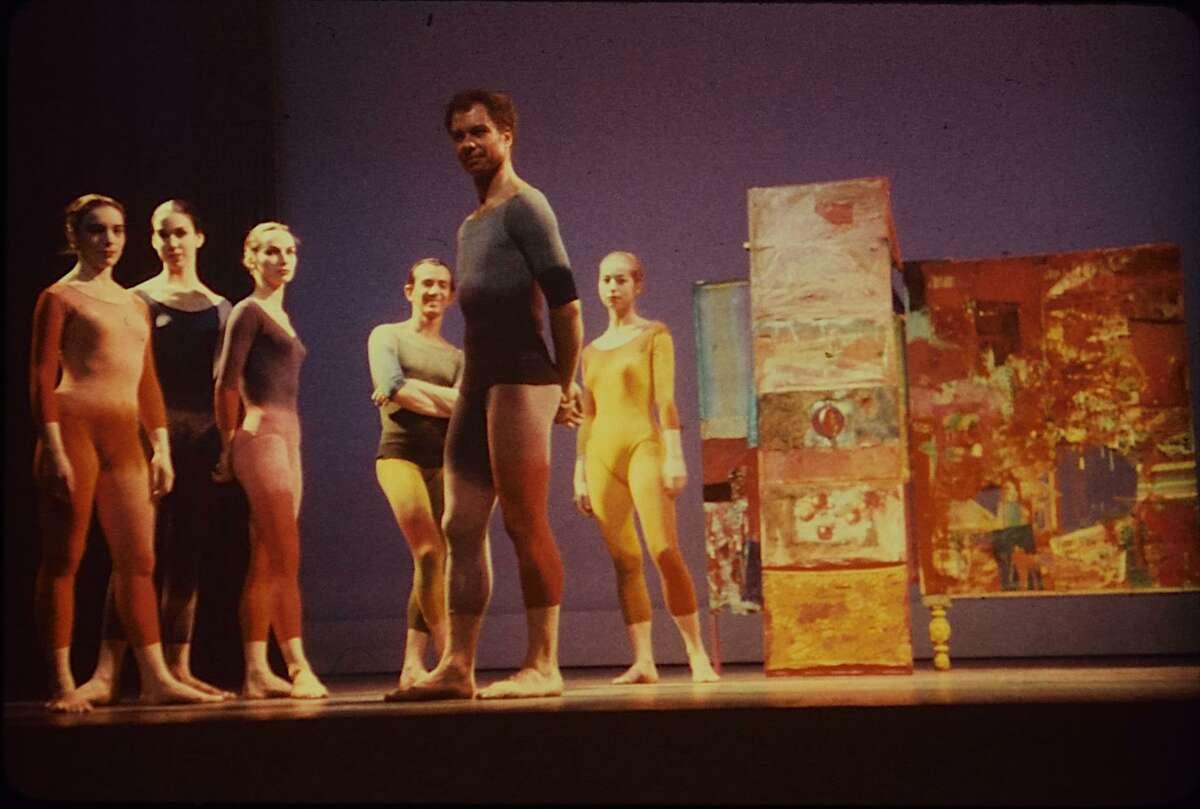 The original Merce Cunningham Dance Company in a scene from the film 'Cunningham'