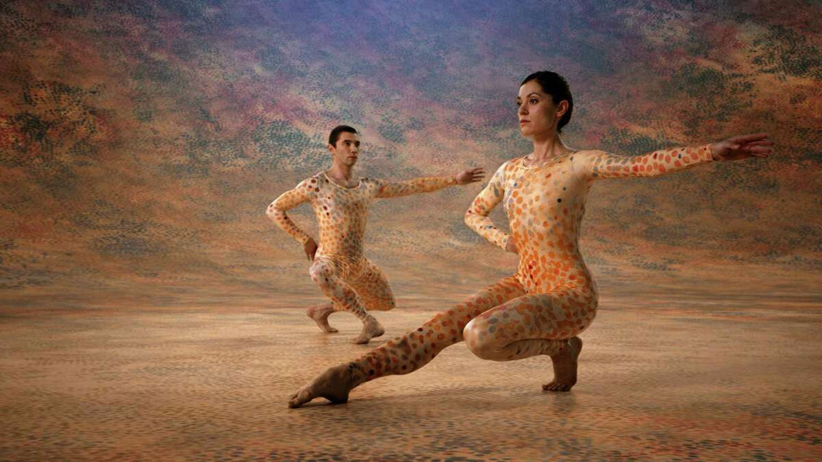 """A scene from the documentary """"Cunningham,"""" about dancer and choreographer Merce Cunningham."""