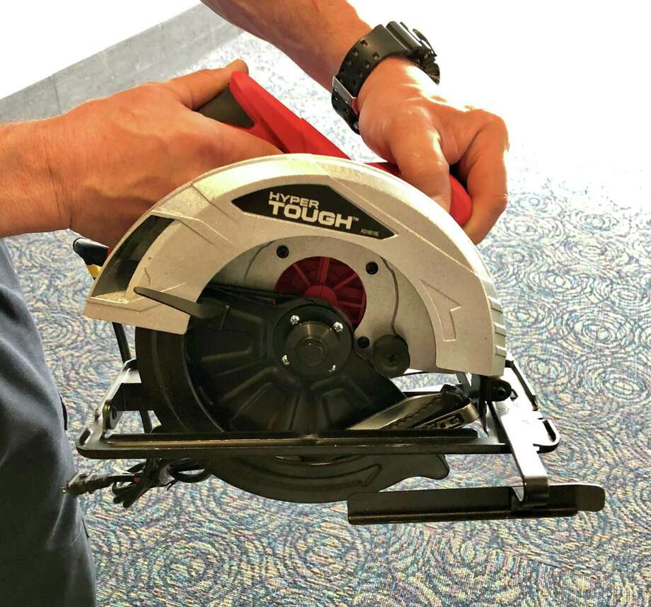 This electric circular power saw brought to a checkpoint at Bradley International Airport last sprng made it into the Transportation Security Administration's list of Top 10 List of most unusual items found at checkpoints in 2019. Photo: TSA Photo