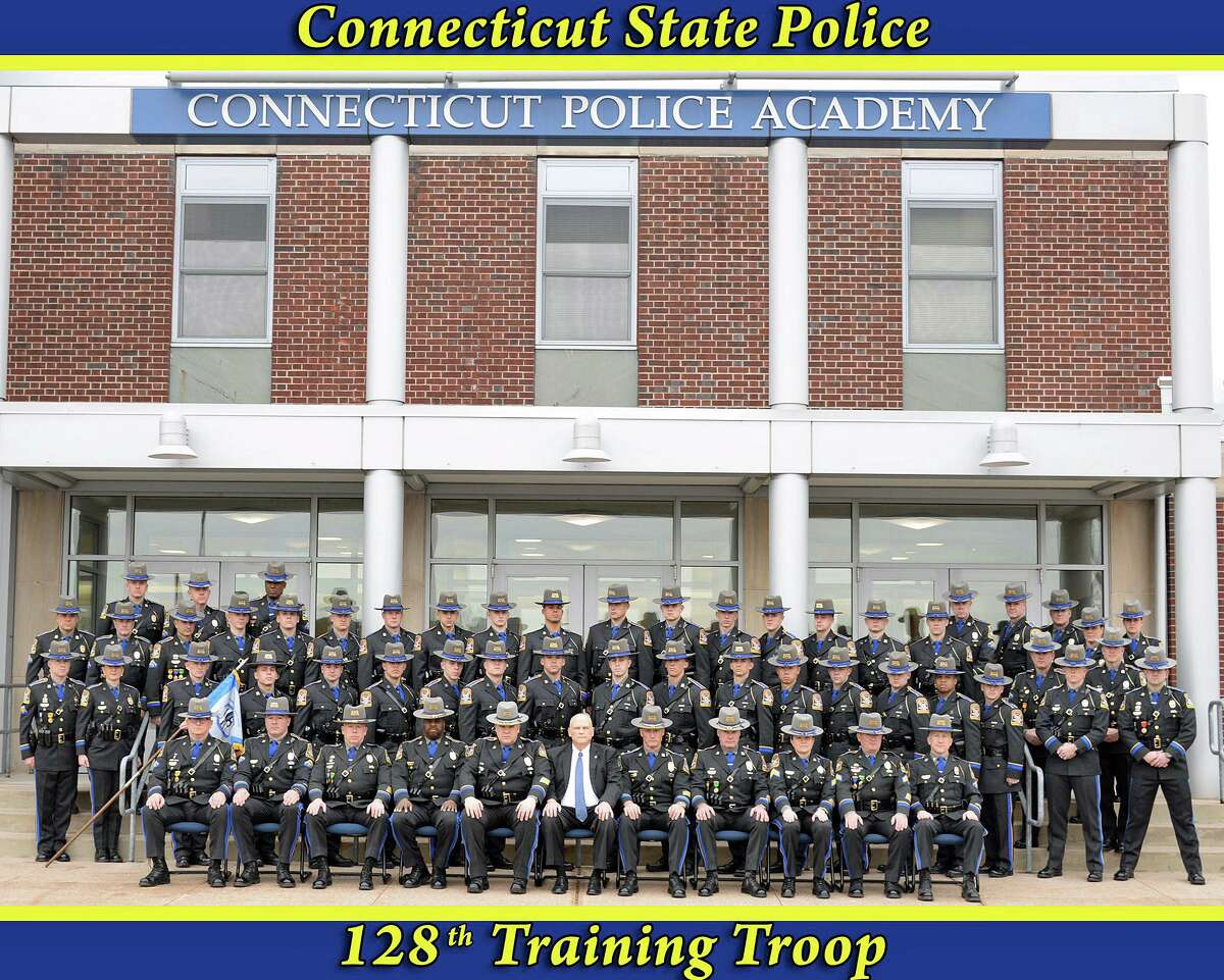 The 128th Training Troop entered the Connecticut State Police Training Academy on July 5, 2019, and completed more than 1,500 hours of training. Much of that time was spent on physical conditioning, classroom work, water rescue, driving and other specialized areas of police work.