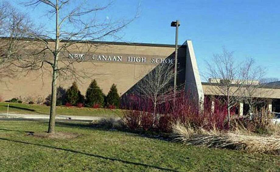 For the second time this week, a potential threat was made to students of New Canaan High School on Friday, Jan. 17, 2020. Photo: Grace Duffield / Hearst Connecticut Media