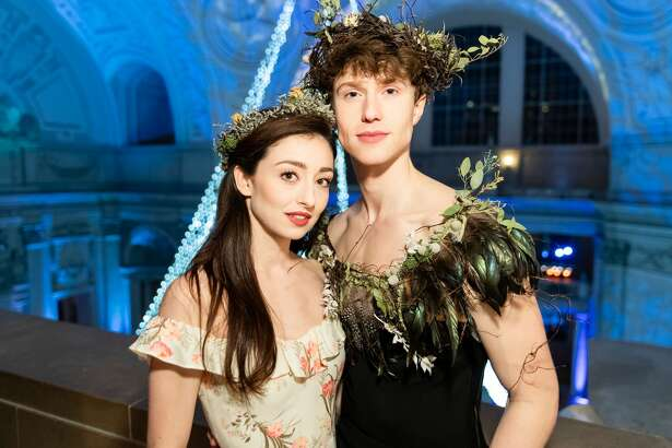 Madison Keesler and Benjamin Freemantle attend the San Francisco Ballet's Opening Night Gala 2020 on January 16, 2020 at War Memorial in San Francisco.