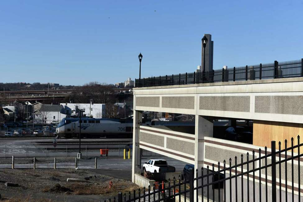 Parking garage at the Albany-Rensselaer Amtrak station on Friday, Jan. 17, 2020, in Rensselaer, N.Y. CDTA is raising the daily and weekly parking rates at the station by about 15 percent daily and 40 percent weekly. (Will Waldron/Times Union)