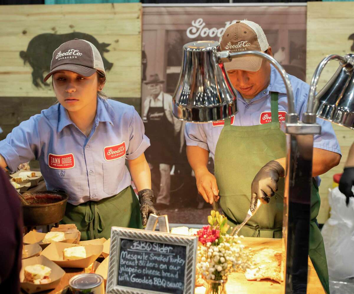 The Good Co. served BBQ sliders for all the attendees of this year's annual Taste of the Town at the Woodlands Waterway Marriott, Thursday, Jan. 16, 2020. The Woodlands Chamber of Commerce has held the event for 34 years and attracts between 2,000-3,000 people.