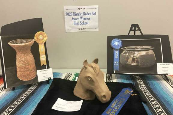 A sampling of the rodeo art that was made by Huffman ISD students that was on display for the 2020 Huffman ISD Rodeo Art Show at Huffman Elementary School
