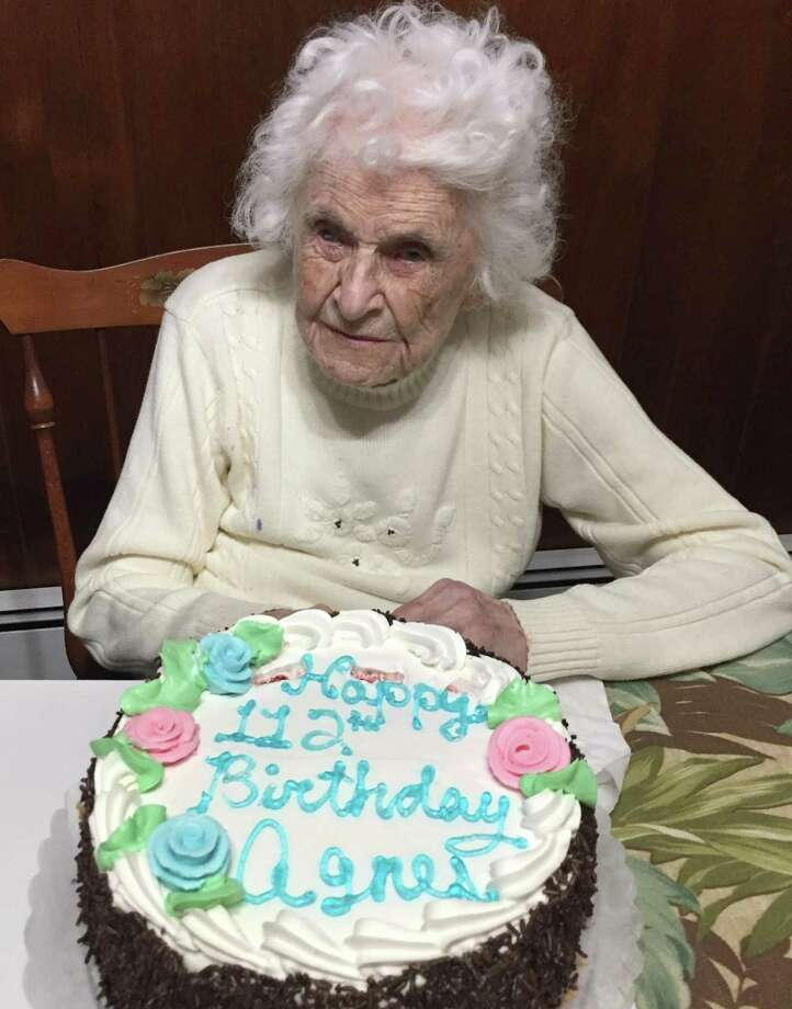 Agnes Lowe on her 112th birthday Photo: Contributed Photo