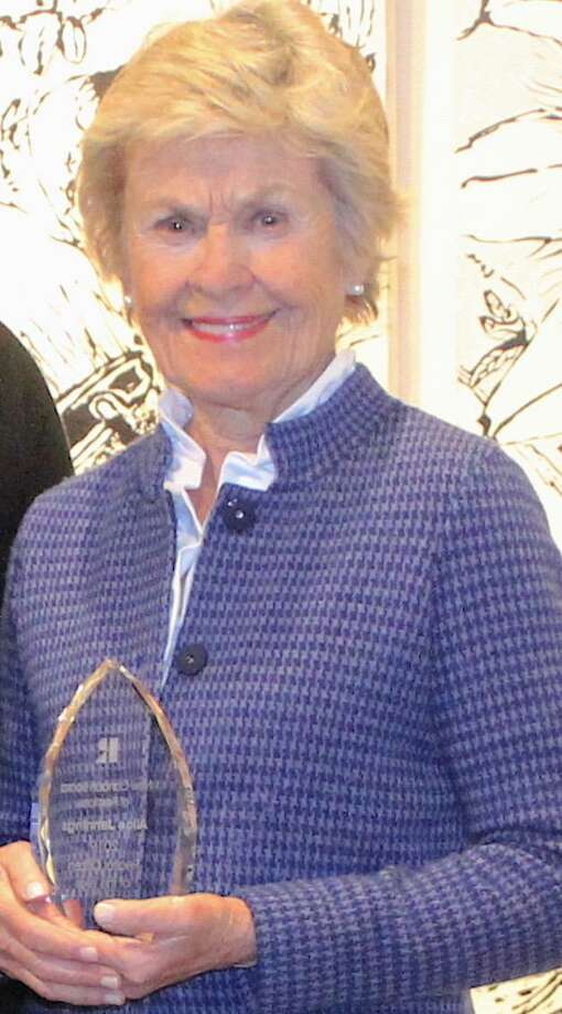 Real Estate agent Alice Jennings of Houlihan Lawrence's New Canaan brokerage was recently awarded Realtor Citizen of the Year by the New Canaan Board of Realtors. Photo: Contributed Photo