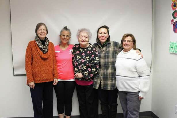 In its sixth year of the national Livestrong at the YMCA program, the New Canaan YMCA previously held its most recent graduation event. Pictured are five people who were involved with the program. They are: Hildreth Dunn, Deb Kozar, Ruth Kelley, Deborah Green and Sara Rogers.