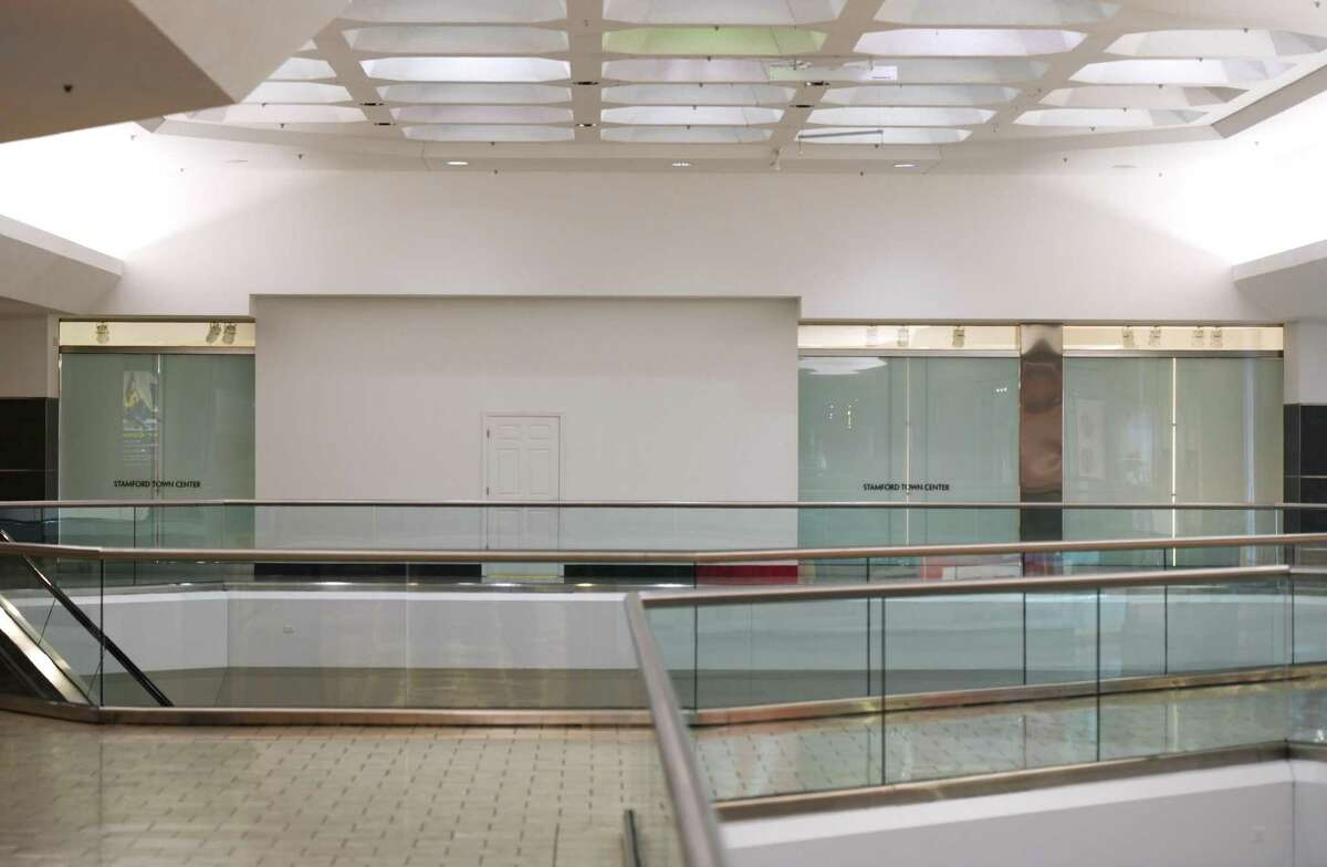 Several vacancies plague the fifth floor of the Stamford Town Center in Stamford, Conn. Thursday, Jan. 16, 2020. The closing of H&M and Clarks at the mall highlight its growing vulnerability to the competition from the new SoNo Collection in Norwalk.