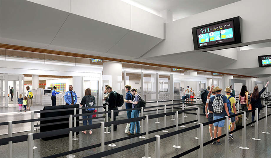 Rendering of expanded security screening area at SFO's international terminal. Photo: San Francisco International