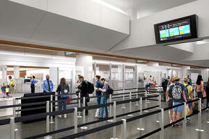 Rendering of expanded security screening area at SFO's international terminal.