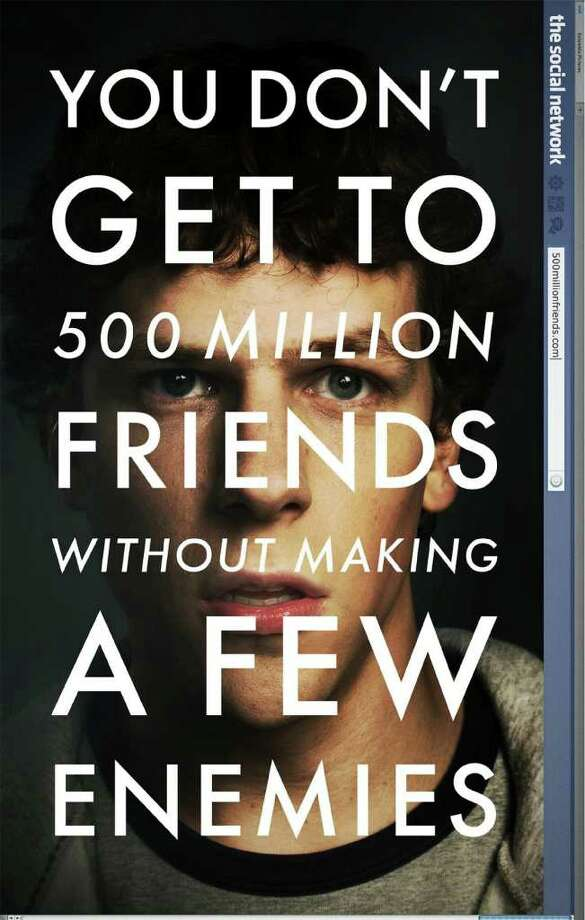 "The movie poster for ""The Social Network,"" due out Oct. 1. Photo: Contributed Photo / Greenwich Time Contributed"