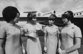 Stewardesses for National Airlines, who were aboard the hijacked plane to Cuba in 1969.