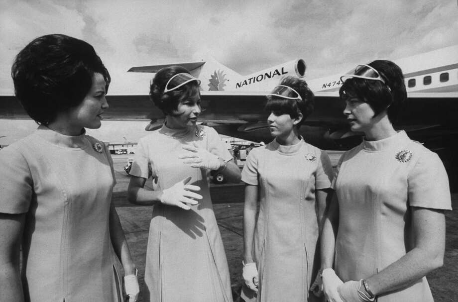 Stewardesses for National Airlines, who were aboard the hijacked plane to Cuba in 1969. Photo: Lynn Pelham/The LIFE Picture Collection Via