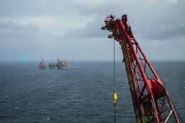 The Maersk Reacher rig, operated by Maersk Drilling Services A/S, stands in the Valhall field in the North Sea off the coast of Stavanger, Norway, on Wednesday, Oct. 9, 2019. The boss of Maersk Drilling is in no rush to make acquisitions because he believes a rout in equity prices for offshore drillers has further to go. Photographer: Carina Johansen/Bloomberg