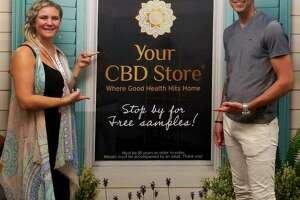 Clayton Percy, domestic franchisee director, right, and Jillian Shipchack, events coordinator, for Your CBD Stores, opened the first Connecticut-based Your CBD Store in Milford during June, 2018. There are now 22 stores in the state, with ten leases pending.