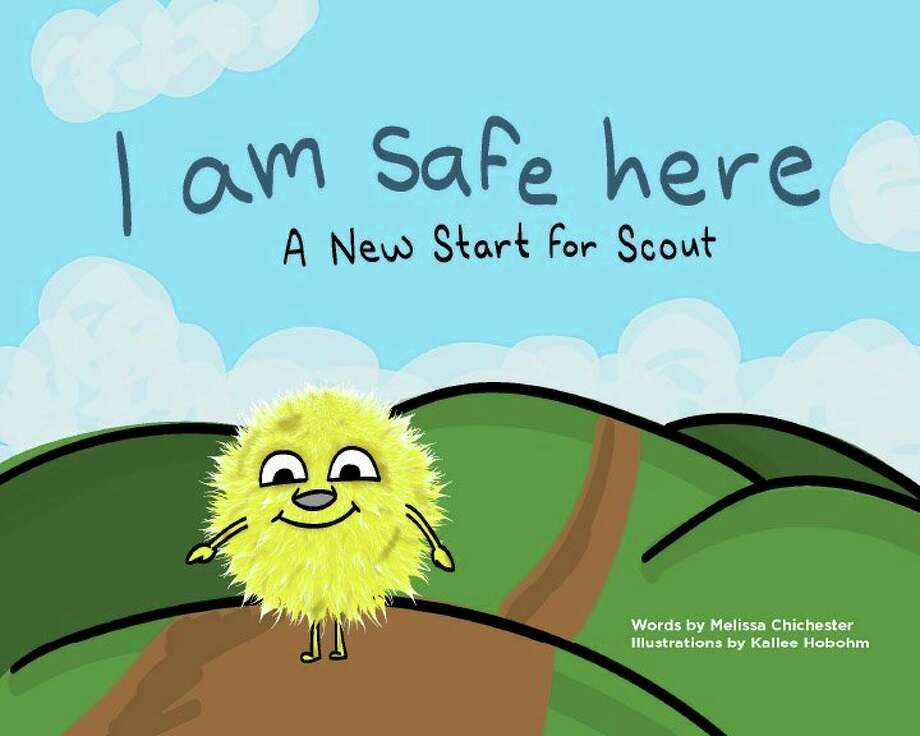 "This is the cover of ""I Am Safe Here: A New Start for Scout,"" an illustrated children's book created by Shelterhouse staff members to help children entering the shelter overcome their fear. (Photo provided/Savannah Crist)"