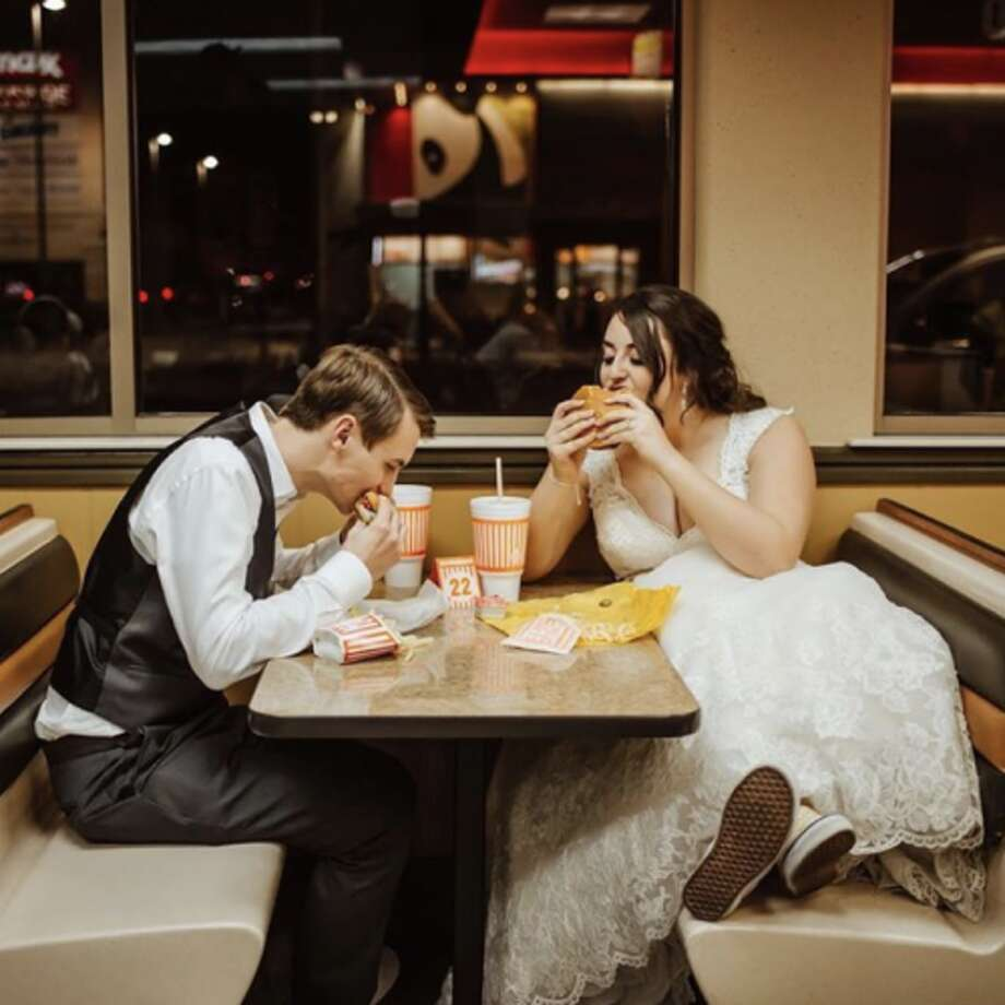 "This Valentine's Day, Whataburger will throw a ""Whatawedding"" for six lucky couples across Texas. Burger baes are asked to submit their contact information, along with a 500-word description of their love story by Feb. 2 at 5 p.m. Couples can apply for one of six locations: College Station, Corpus Christi, Fort Worth, Grand Prairie, Houston and San Antonio. Photo: Courtesy, Whataburger"