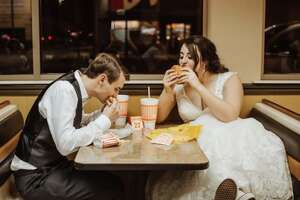 """This Valentine's Day, Whataburger will throw a """"Whatawedding"""" for six lucky couples across Texas. Burger baes are asked to submit their contact information, along with a 500-word description of their love story by Feb. 2 at 5 p.m. Couples can apply for one of six locations: College Station, Corpus Christi, Fort Worth, Grand Prairie, Houston and San Antonio."""