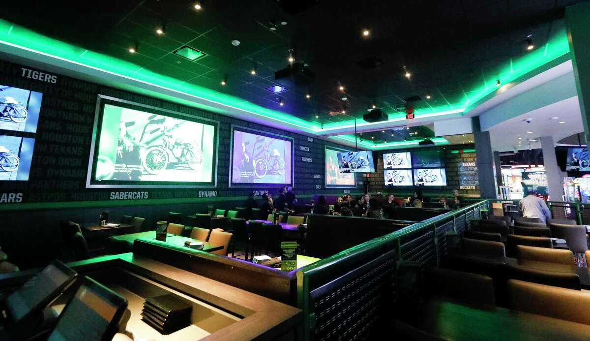 Dave and Busters' new sports bar in Shenandoah has a 2,100 seating capacity. The 40,000 square foot entertainment complex, is scheduled to open Jan. 20, features the latest arcade games, billiards, bowling, virtual reality entertainment, conference room and sports bar.