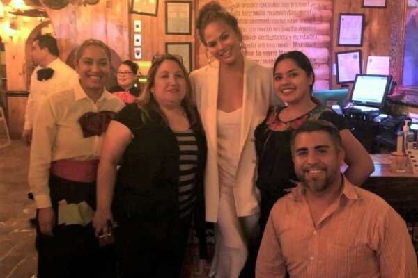 Chrissy Teigen grabbed a meal at El Tiempo at 2814 Navigation Blvd. on Thursday, Jan. 16, 2020.