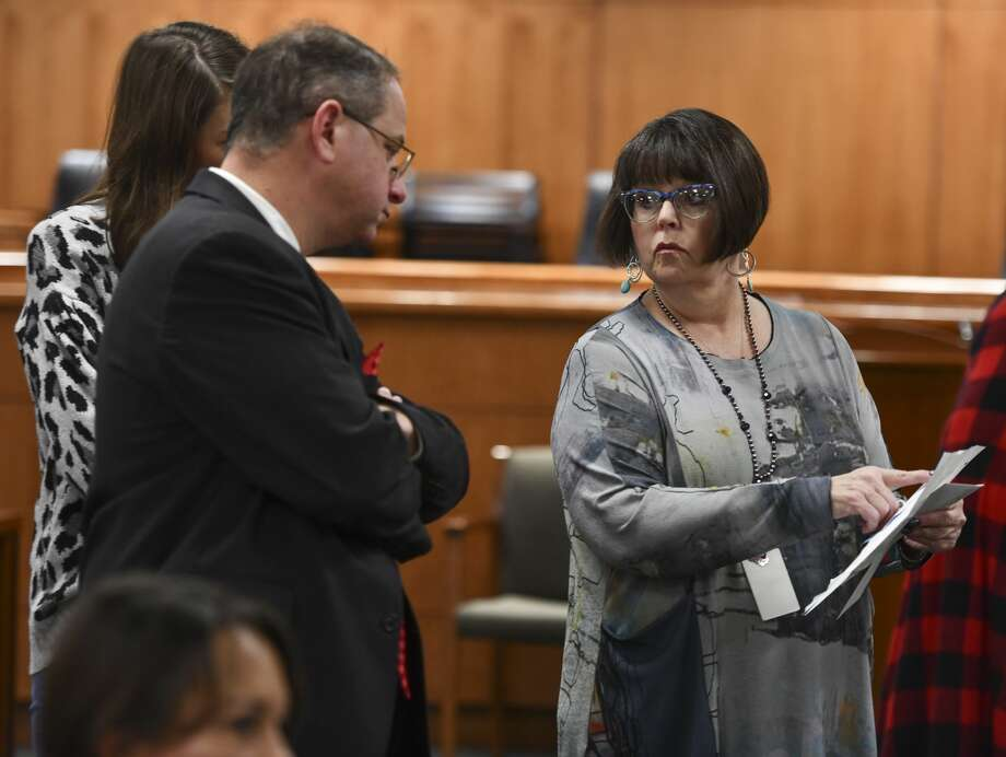 The Elections Commission met Monday to accept Land's resignation. They also appointed assistant elections administrator Carolyn Graves to take over Land's role Photo: Jacy Lewis/Reporter-Telegram