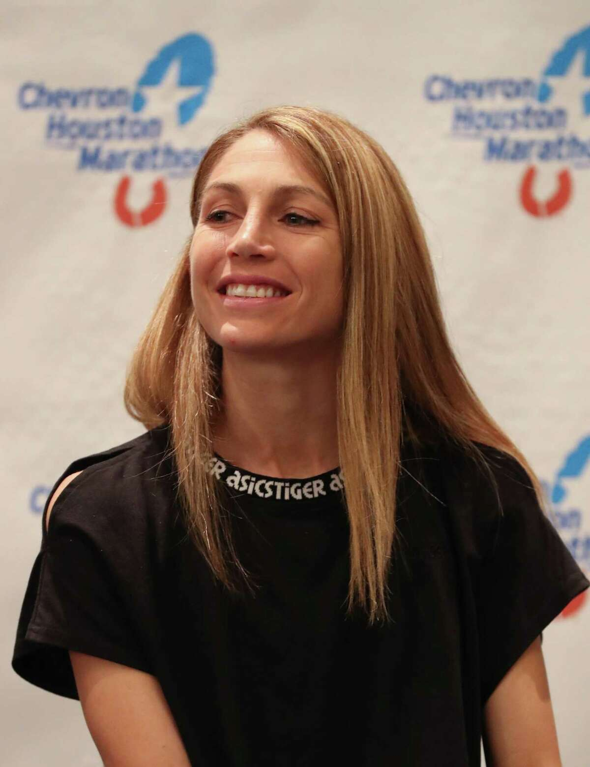 Sara Hall will be running in the Chevron Houston Half Marathon Friday, Jan. 17, 2020, in Houston.