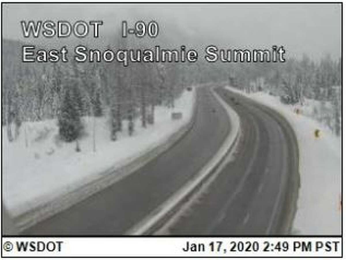 Snow conditions as seen on Snoqualmie Pass on Friday, Jan. 17, 2020.