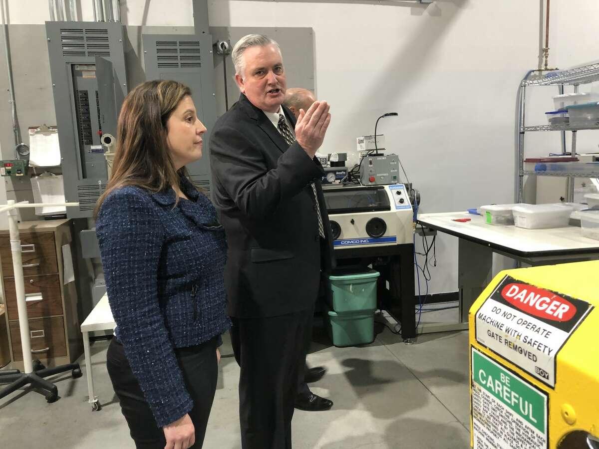 U.S. Rep. Elise Stefanik, R-Schuylerville, tours the medical device manufacturer Epimed in Johnstown, N.Y. on Jan. 17, 2020.