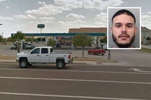 A convicted felon has been arrested for firing shots in the air outside a local Stripes, according to Laredo police.