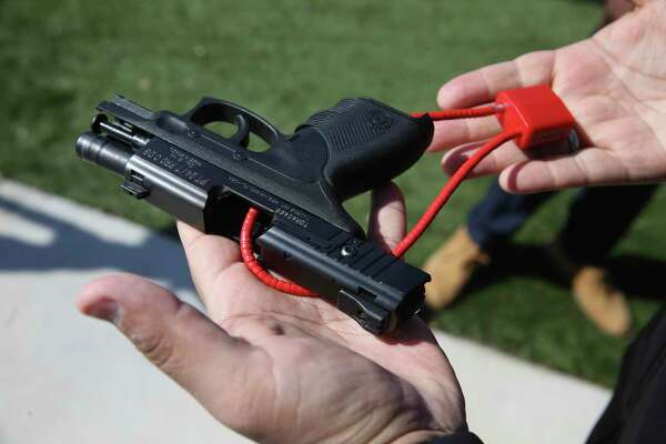 Local officials recently held a gun lock giveaway. When it comes to distributing gun locks, political affiliation shouldn't matter. But the National Shooting Sports Foundation has balked at distributing gun locks through a state program to people and groups associated with gun control advocacy. It's absurd.
