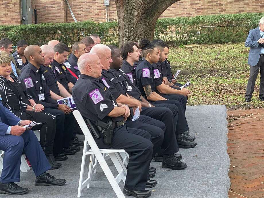 Christus St. Elizabeth Hospital hosted a commissioning ceremony for eight officers Thursday. Photo: Chris Moore