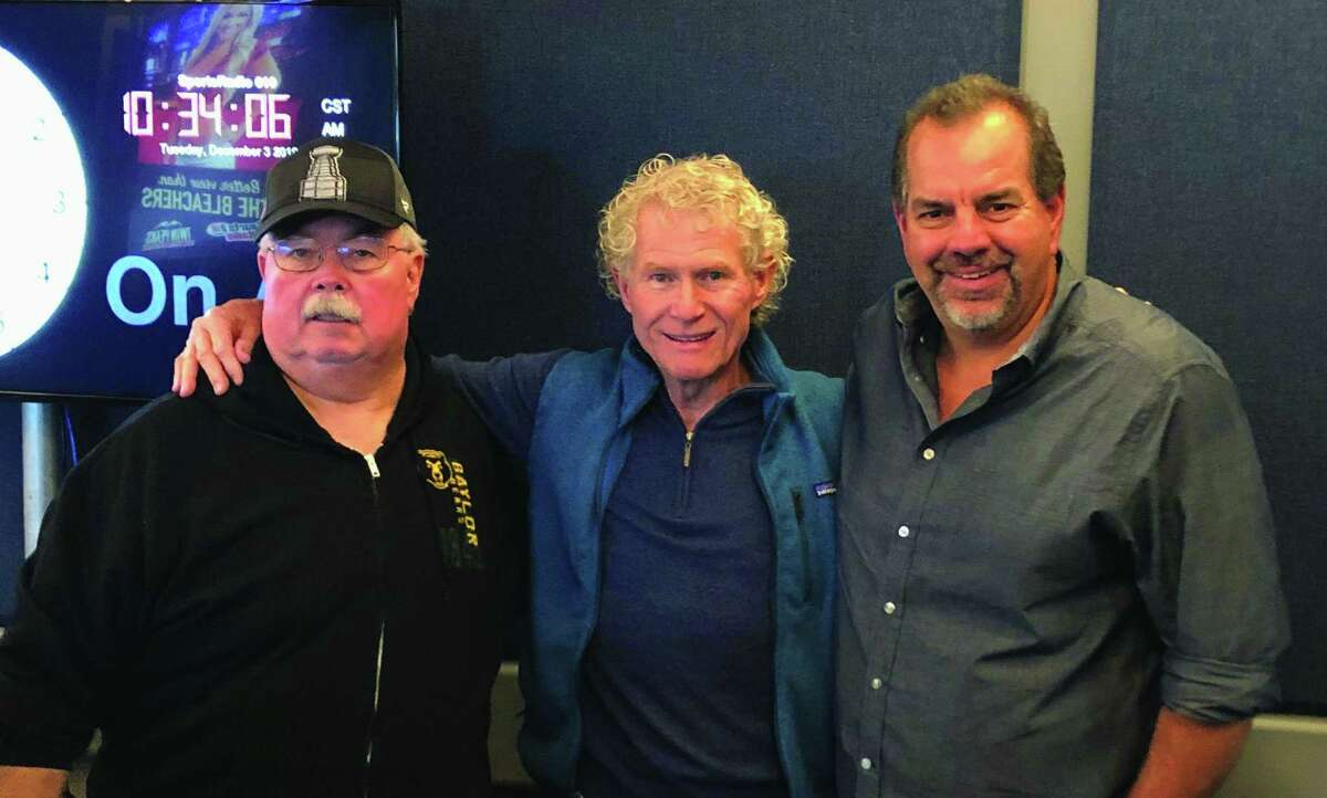 Sports Night at the Pearl will feature a panel discussion with John McClain, left, Dale Robertson, center, and John Lopez, who have 120 combined years of experience covering sports in Houston.