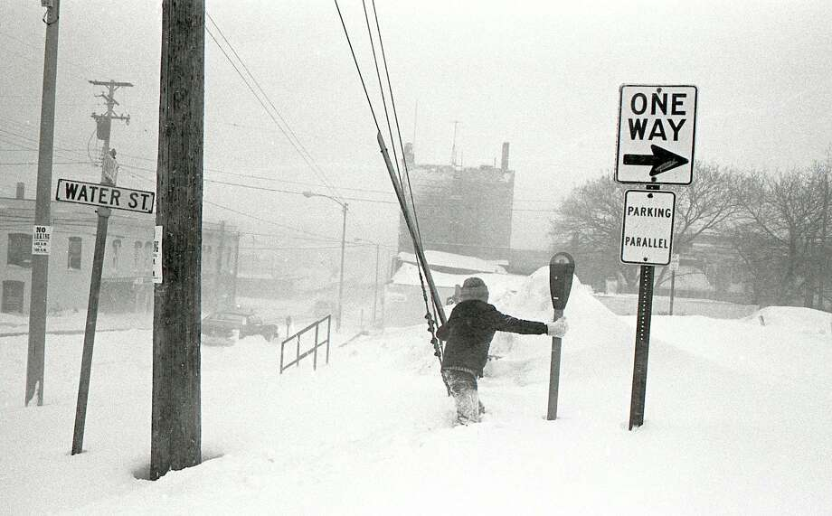 In 1978 a major snowstorm hit the Manistee area shutting down schools and many of the area businesses for several days.