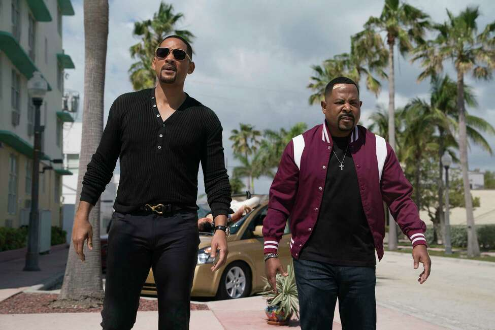 This image released by Sony Pictures shows Martin Lawrence, right, and Will Smith in a scene from