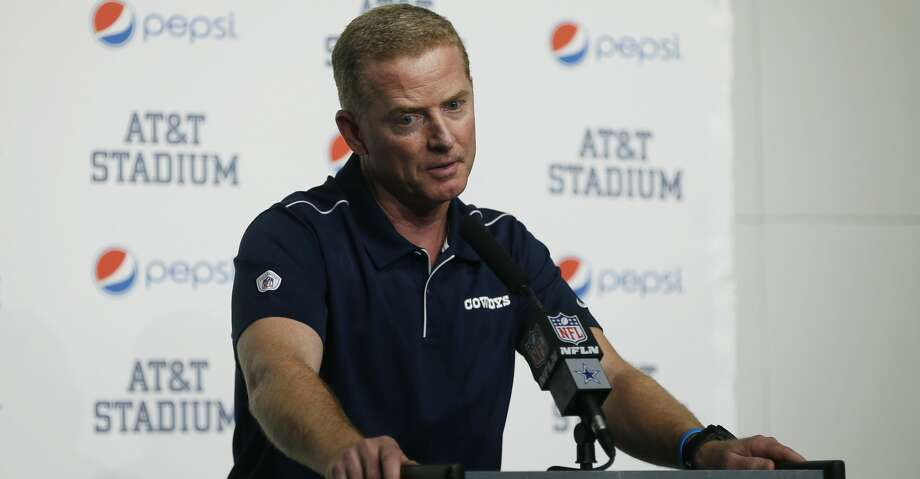 FILE - In this Dec. 15, 2019, file photo, Dallas Cowboys head coach Jason Garrett takes part in a news conference following an NFL football game against the Washington Redskins in Arlington, Texas. A person with direct knowledge of the decision says New York is hiring Garrett to be the Giants offensive coordinator. The person spoke to The Associated Press on condition of anonymity Friday, Jan. 17, 2020, because the team did not immediately announce the move. (AP Photo/Ron Jenkins, File) Photo: Ron Jenkins/Associated Press