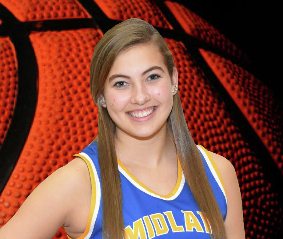 Midland High's Jordan Phillips sank five 3-pointers in the Chemics' 42-37 win over Saginaw Heritage on Friday. Photo: Photo Provided