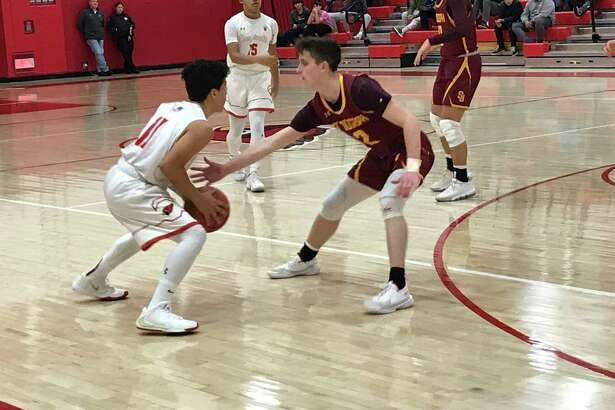 The St. Joseph boys basketball team posted a 52-51 comeback win vs. Greenwich in an FCIAC game held on Friday, January 17, 2020, in Greenwich.