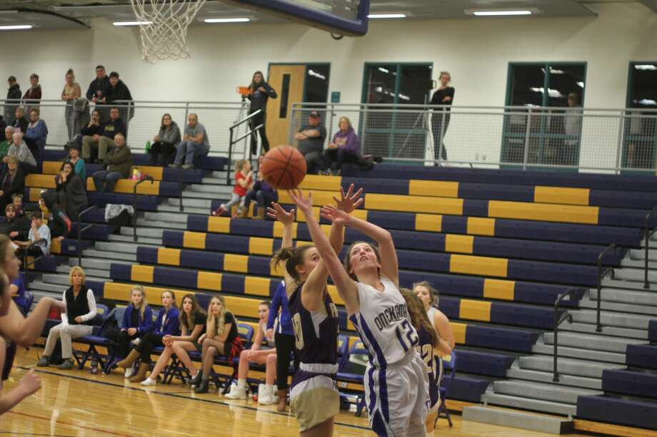 The Onekama girls basketball team fell to Frankfort at home. Photo: Kyle Kotecki/News Advocate