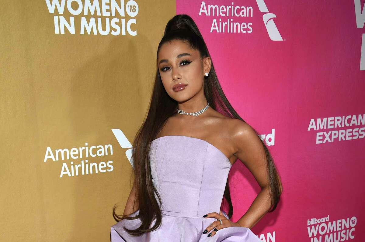 FILE - In a Thursday, Dec. 6, 2018 file photo, Ariana Grande attends the 13th annual Billboard Women in Music event at Pier 36, in New York. Ariana Grande has cancelled a Las Vegas performance scheduled for Saturday, Dec. 29, 2018