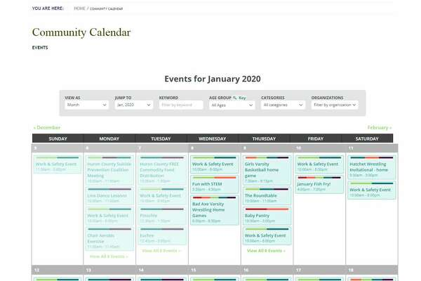 This is a view of the community calendar. It can beaccessed by going to www.baevents.org. (Submitted Photo)